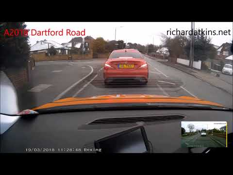 Sidcup Driving Test Route 19 March 2018 11.11am