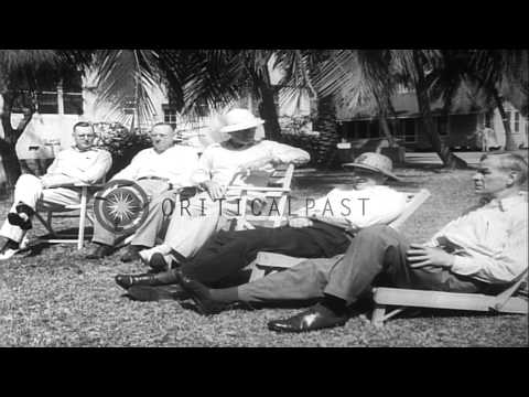 President Harry S Truman on second visit to Key West.  Key West International Fis...HD Stock Footage