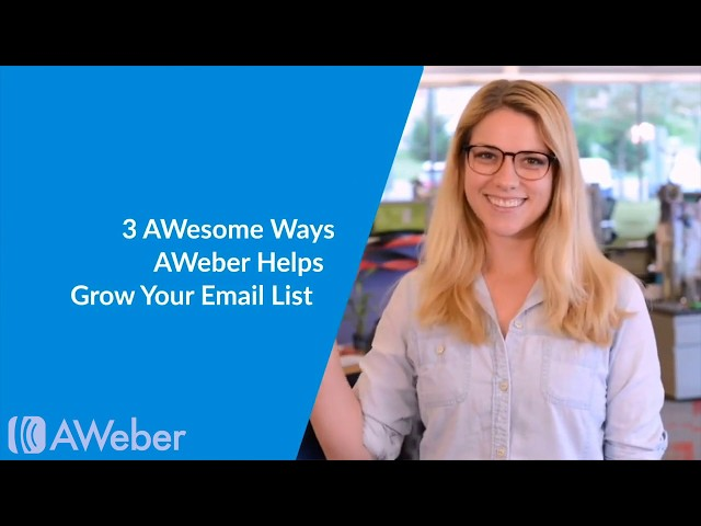 3 Ways to Grow Your List With AWeber - Free Video Course!