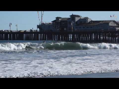 Mike Kresky Surfs the Stearns Wharf Santa Barbara, California 2016