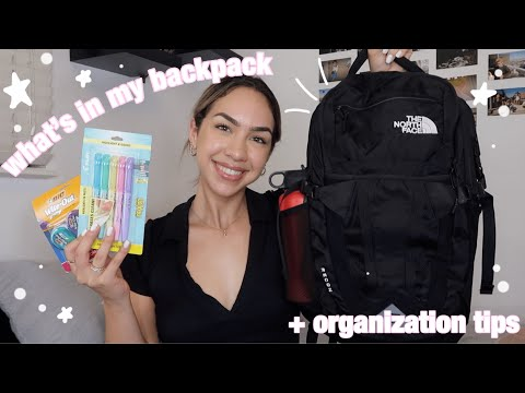 WHATS IN MY BACKPACK 2019 + school supply shopping haul (college)