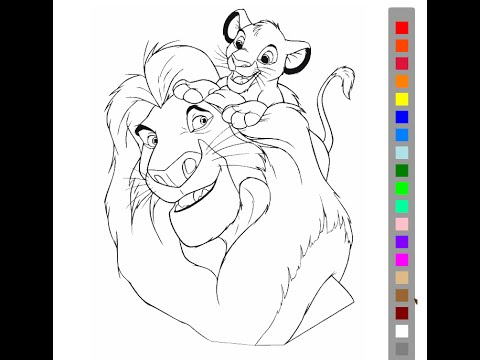 The Lion King Coloring Pages For Kids The Lion King Coloring