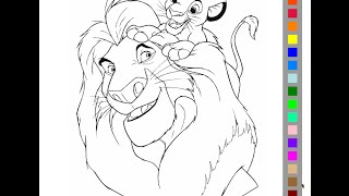 The Lion King Coloring Pages For Kids - The Lion King Coloring Pages Games