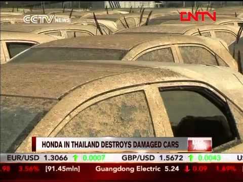 Honda in Thailand destroys damaged cars