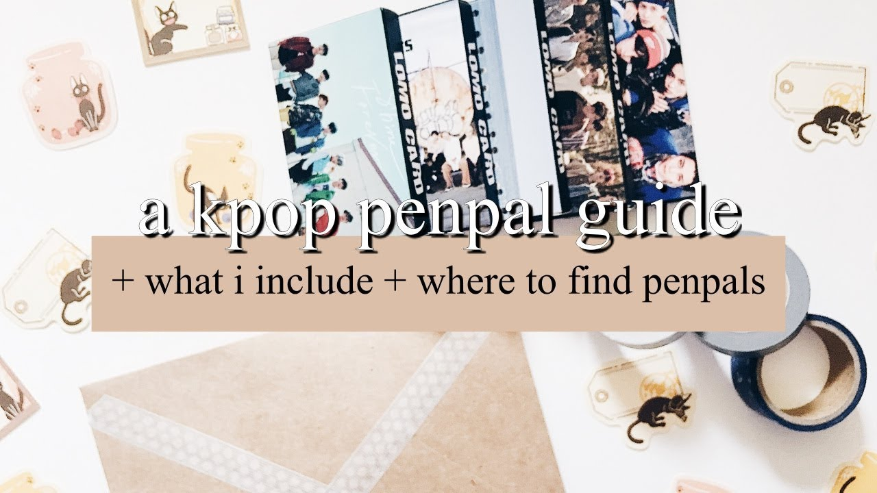 a kpop penpal guide + what i include + where to find penpals |  finessejournal
