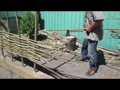 Как сделать забор из орешника своими руками. Дешево, быстро и красиво. // Олег Карп