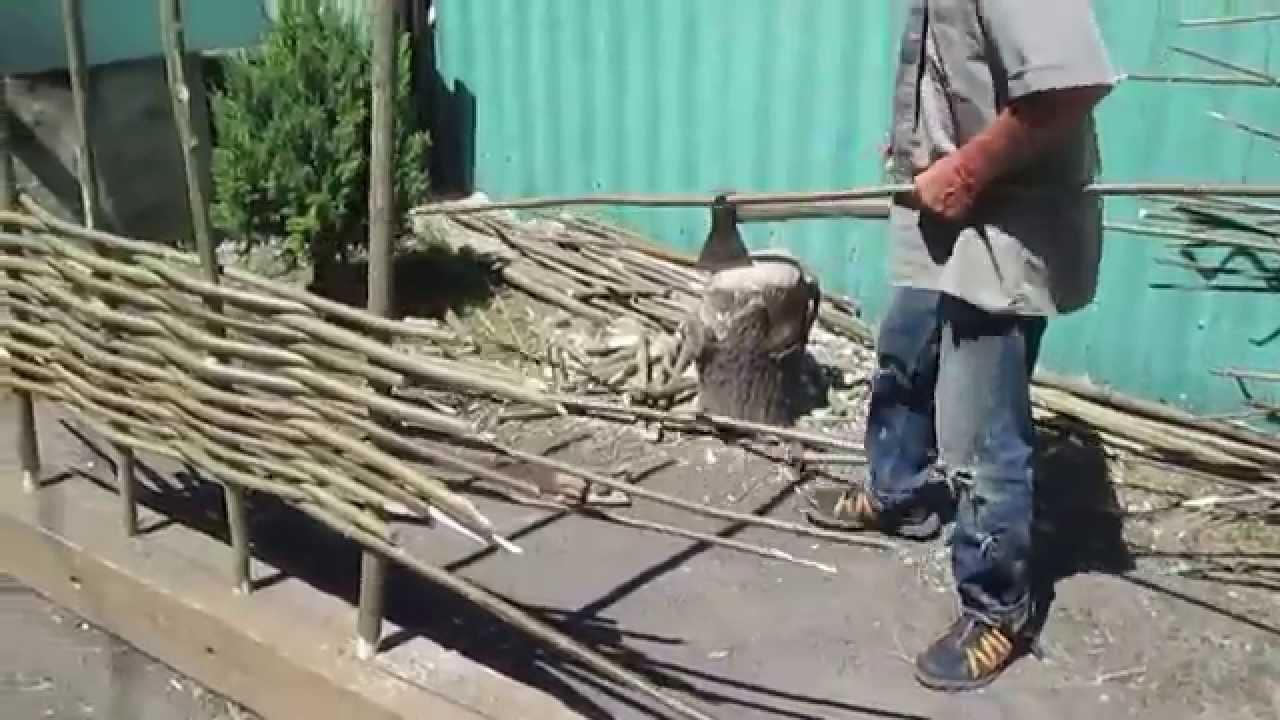 Плетение забора своими руками заборы