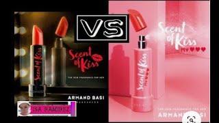 Armand Basi Scent Of Kiss VS Armand Basi Scent Of Kiss My Heart - Comparación de perfumes