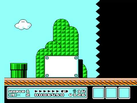 Super Mario Bros 3 World 1 Level 1 White Block