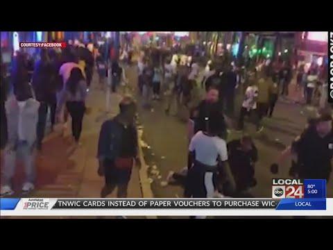Downtown Memphis Violence