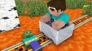 Wolf Life  and Zombie part I - Minecraft Animation