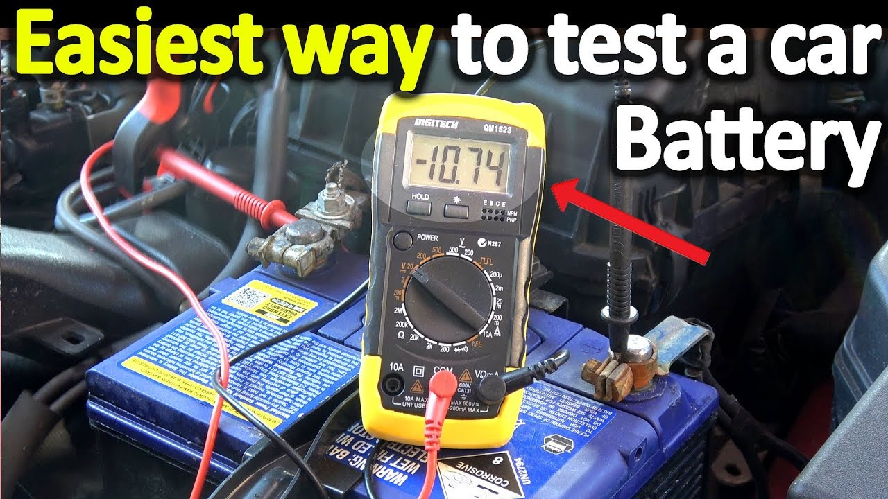 How To Test A Car Battery With A Multimeter Voltage Cold
