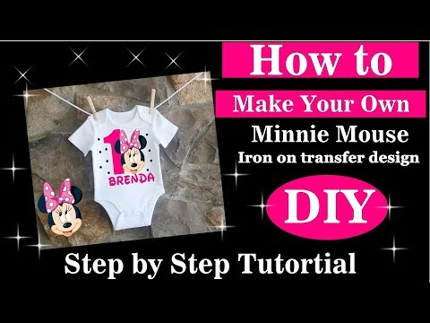 How To Make A Custom Minnie Mouse Shirt