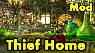 Skyrim Home Mod: Riften Canals Thief (Review Commentary) Player House