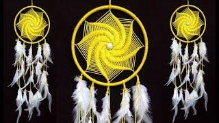 DIY Macrame Wall Hanging Dream Catcher | Wall Hanging Craft Ideas Home Decor