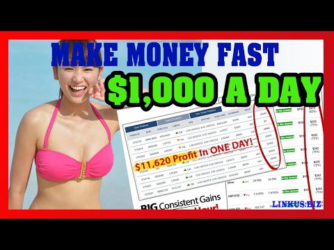 Thumbnail: How To Make Money Online Fast - Binary Options Trading Strategy 2017 $1,000 Per Day