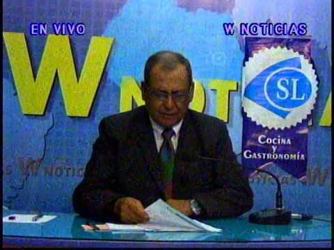 W Noticias informando de huayco en Moyobamba 17-11-2014