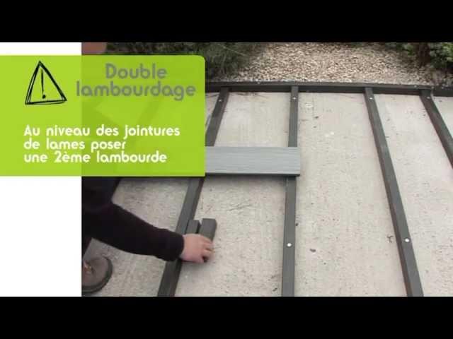 Tuto De Pose Ocewood Poser Une Terrasse Lambourde Composite Sur Dalle Beton Youtube