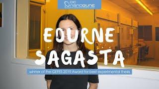 Edurne Sagasta, winner of the GEFES 2019 Award for best experimental thesis