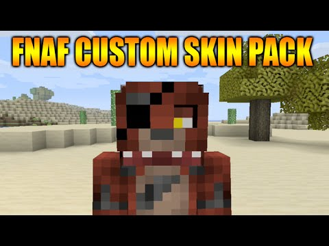 Minecraft Xbox PS Custom Skin Pack Showcase Five Nights At - Skin para minecraft pe de freddy