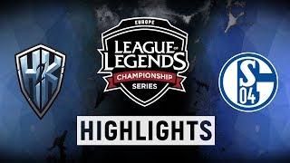 H2K vs. S04 - EU LCS Week 9 Day 2 Match Highlights (Summer 2018)