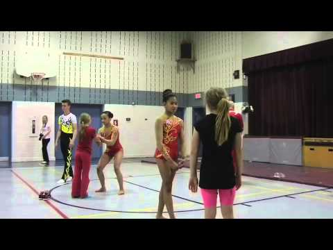 Acrobatic Gymnastics School Demo 2013