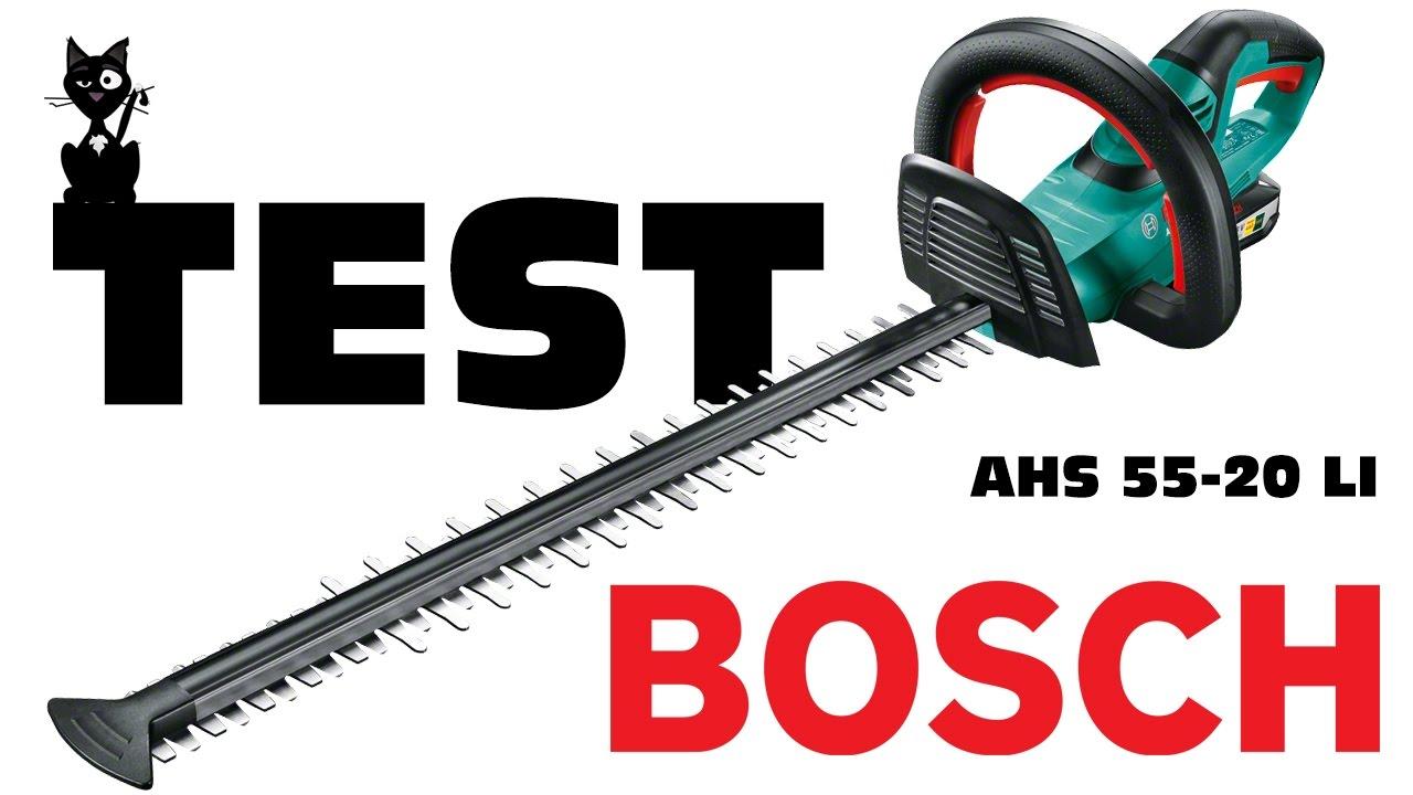 Test vid o du taille haies sans fil bosch ahs 55 20 li youtube - Meilleur taille haie electrique ...