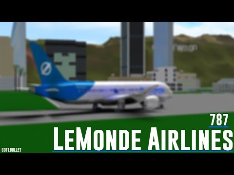 [ROBLOX] LeMonde Airlines 787 Flight. Business Class Experie