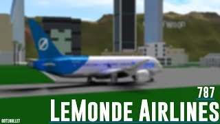 [ROBLOX] LeMonde Airlines 787 Flight. Business Class Experience.
