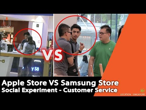 Apple Store VS Samsung Store , Apakah Meremehkan Customer ? - Social Experiment di Singapore