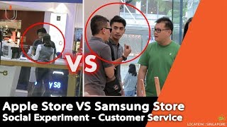 Apple Store VS Samsung Store , Apakah Meremehkan Customer ? - Social Experiment di Singapore