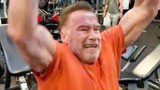 Arnold Schwarzenegger SIGUE ENTRENANDO DURO a los 71 años