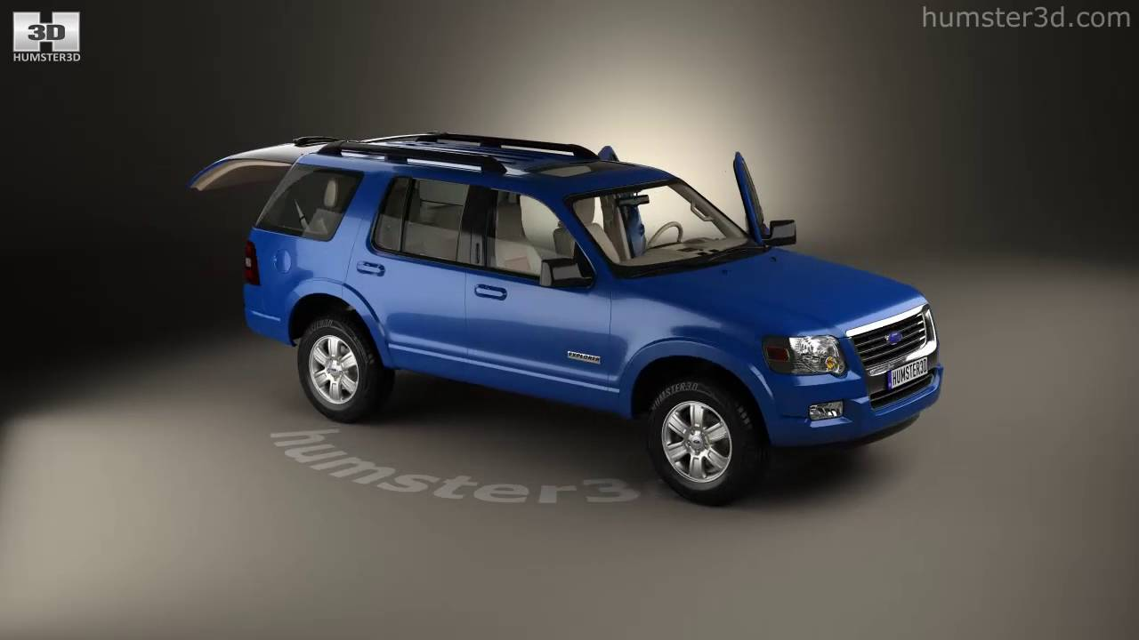 Ford Explorer Models >> Ford Explorer With Hq Interior 2006 3d Model By Humster3d Com
