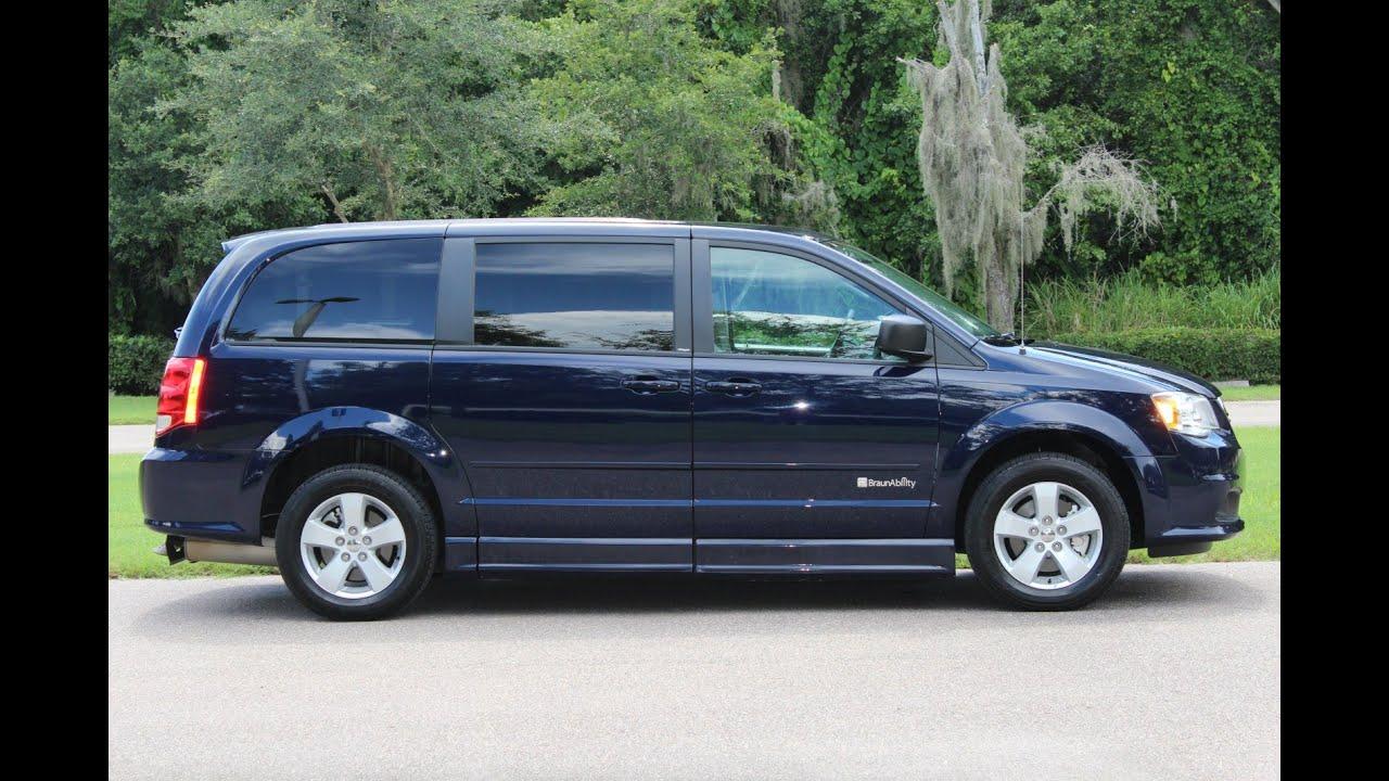 Wheelchair van handicap ramp van Braun Mobility 2013 Dodge Grand Caravan Dark blue 5 k www ...