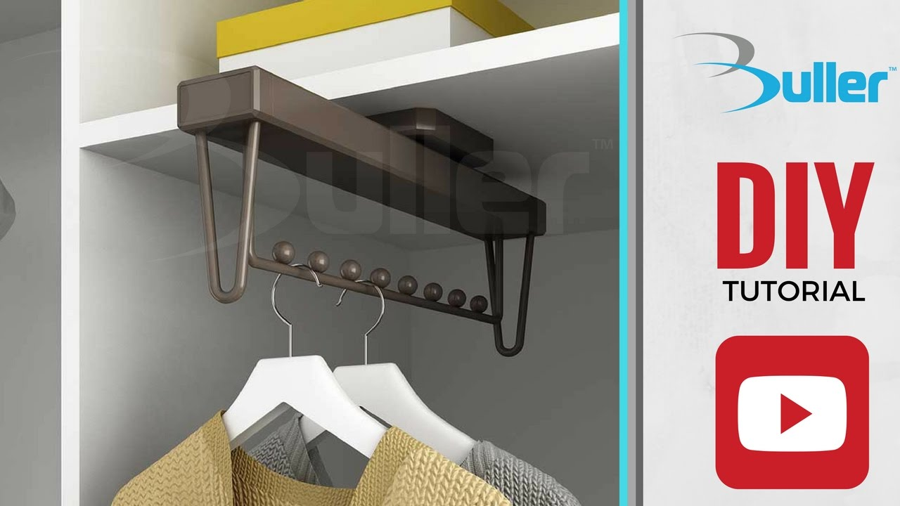 How To Install Moka Pull Out Wardrobe Clothes Rail From Buller.