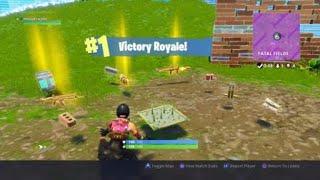 Minigun Beats Stubborn Builder - 11th Solo Win (Fortnite Battle Royale)
