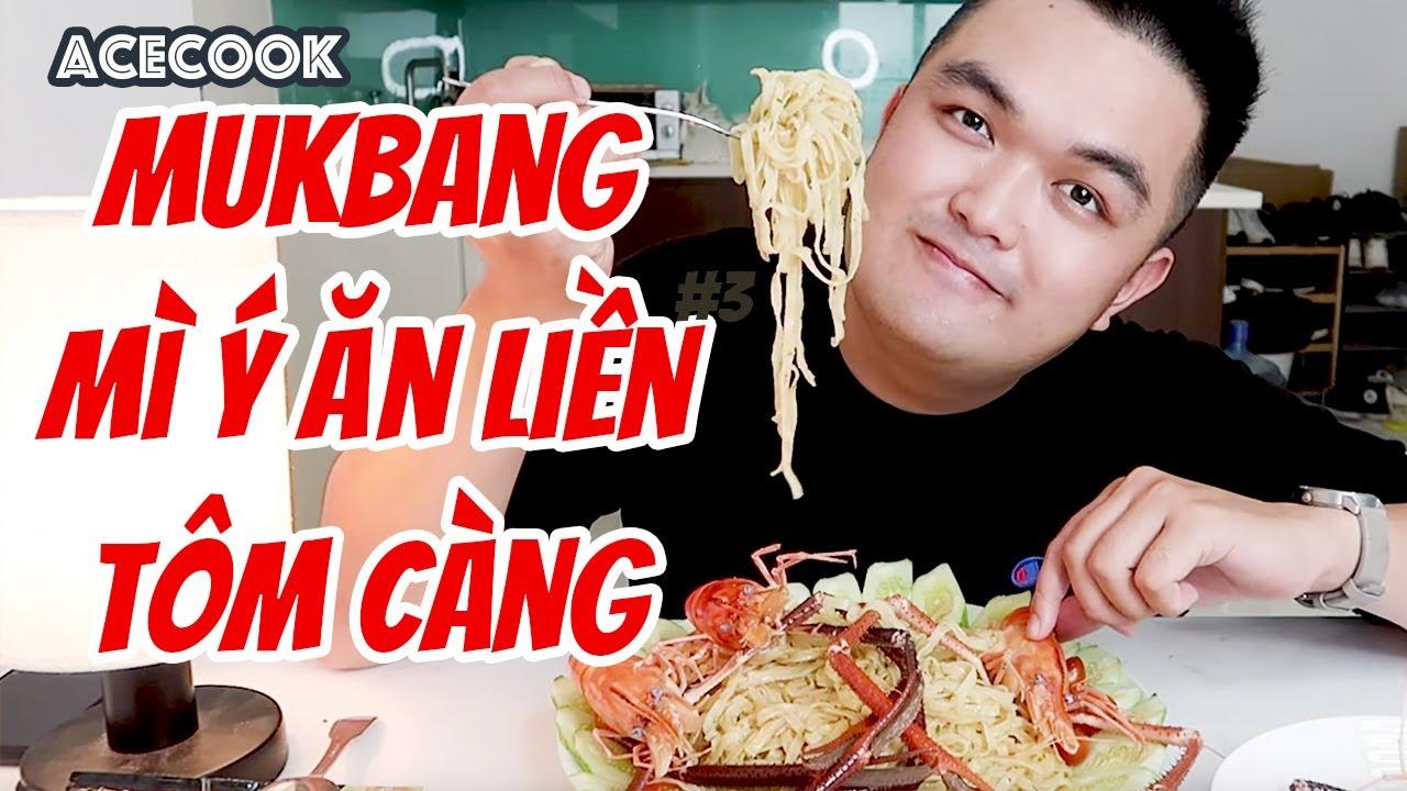 MUKBANG Thử Ăn Mì Spaghetti Bistro SỐT KEM PHÔ MAI ĂN LIỀN || THAM QUAN NHÀ MÁY MÌ ACECOOK
