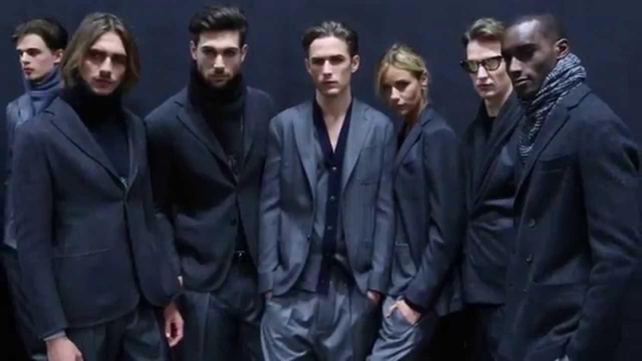 1af74562663 Giorgio Armani - 2015 Fall Winter - Men s Fashion Show Backstage - YouTube