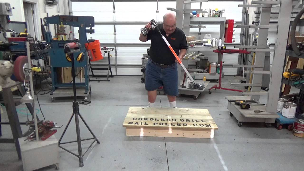 NEW Extended Reach Cordless Drill Nail Puller - YouTube