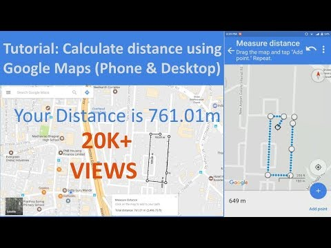 how to find the distance on google maps