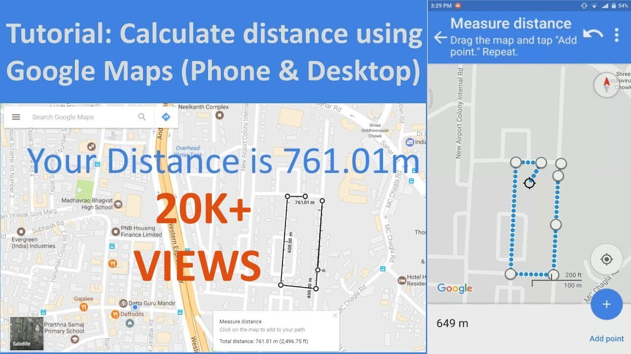 How To Measure Distance On Google Maps Phone Desktop Tutorial - Map your distance