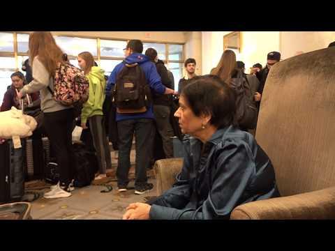 Aruna & Hari Sharma at Omni Shoreham Washington DC Lobby during Housekeeping, Nov 16, 2017