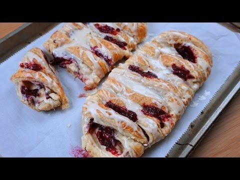 Raspberry Cream Cheese Danish Recipe - What's For Din'? - Courtney Budzyn - Recipe 104