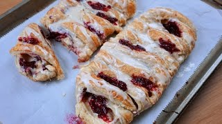Raspberry Cream Cheese Danish Recipe
