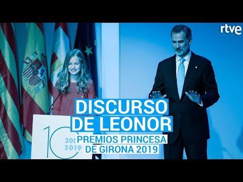 A Princesa Leonor pronuncia o seu primeiro discurso en catalán
