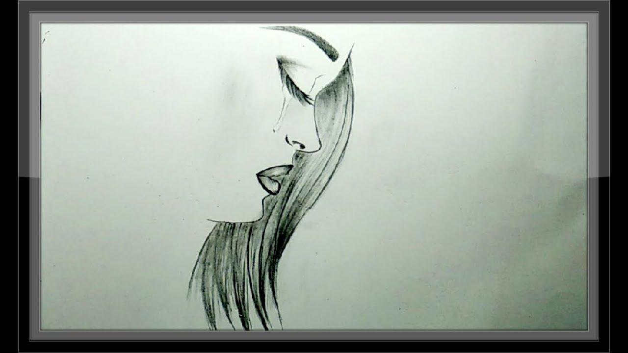 Coo L Pencil Drawing A Beautiful Girl Face Simple Easy Youtube