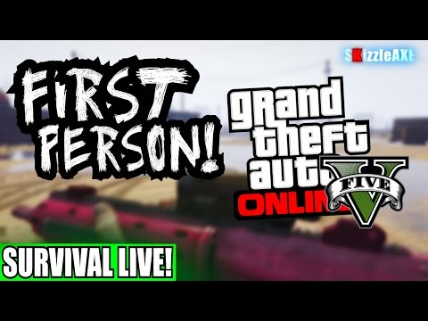 GTA 5 Online PS4 First Person SURVIVAL! Grand Theft Auto 5 PlayStation 4 Gameplay (GTA V PS4)