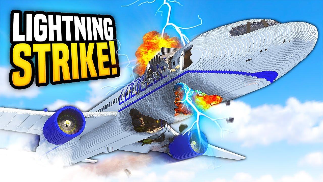 Plane CRASHES From LIGHTNING Strike - Teardown Mods Gameplay