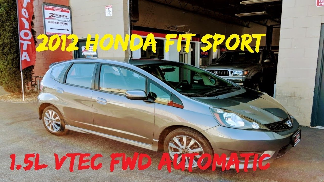 2012 Honda Fit Sport Auto VTEC 1.5L 4 Cyl For Sale San Luis Obispo, CA  $11495