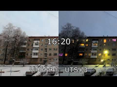 Разница между UTC+3 и UTC+4 в Нижегородской области (Январь)